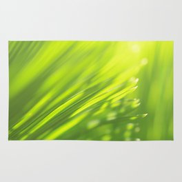 Palm tree leaves Tropical green yellow jungle Rug