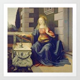 "Leonardo da Vinci ""Annunciation 2."" Art Print"
