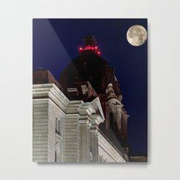 October Super Moon Metal Print