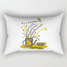 It's a beautiful day- Butterflies and bees Rectangular Pillow