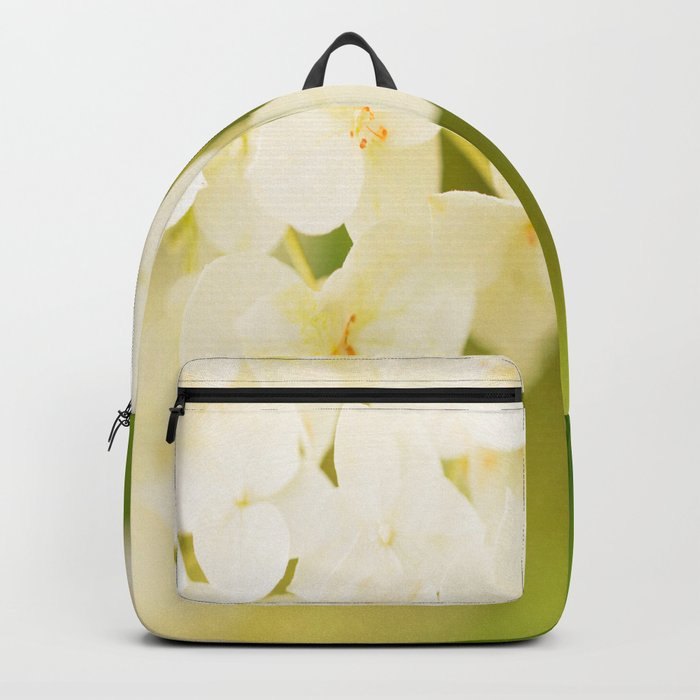 White Hydrangea On A Green Background #decor #buyart #society6 Backpack
