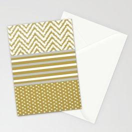 Ikat Gold Chevron Stationery Cards