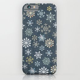night time snow  iPhone Case