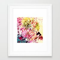 aelwen Framed Art Prints featuring waterlily by clemm