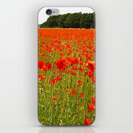 Sea of Normandy Poppies iPhone Skin