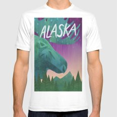 Alaska MEDIUM White Mens Fitted Tee