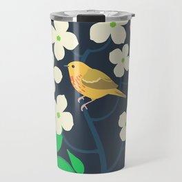 Yellow Warbler + Dogwood Travel Mug