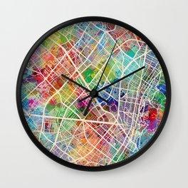 Bogota Colombia City Map Wall Clock