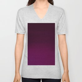 Hand painted pink burgundy watercolor gradient pattern Unisex V-Neck