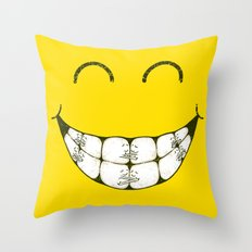 Hugs and smile Throw Pillow