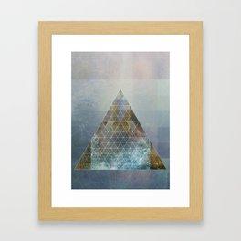 Perseid - Contemporary Geometric Pyramid Framed Art Print