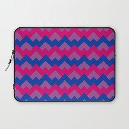Bisexual Pride Flag Colors in Geometric Pattern Laptop Sleeve