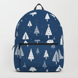 Christmas Tree Pattern (Blue) Backpack
