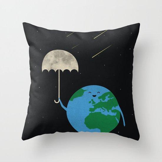 Moonbrella Throw Pillow