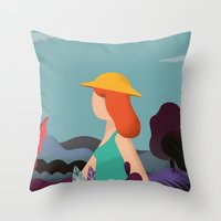 into the wild Throw Pillows featuring Wild by Riccardo Fred Cusimano