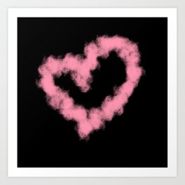 LOVE IN SMOKE Art Print