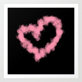 LOVE IN SMOKE Art Print