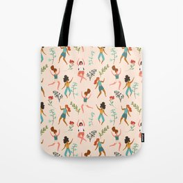Central Park Workout #illustration #pattern #womensday Tote Bag