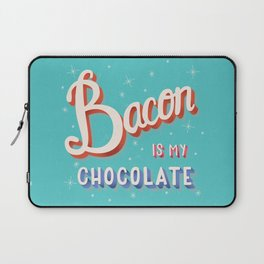 Bacon is my chocolate hand lettering typography modern poster design Laptop Sleeve