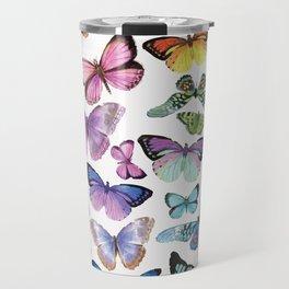 Butterfly Rainbow Travel Mug