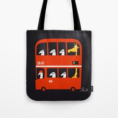 A tall passenger Tote Bag