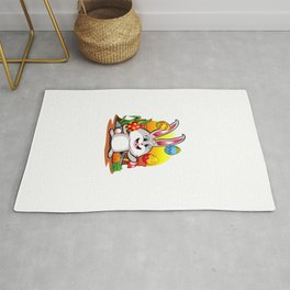 Easter Bunny | Happy Easter Juggling Eggs Rug