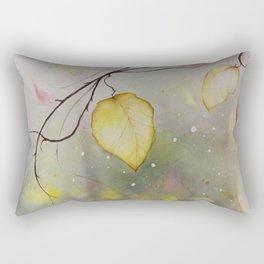 Autumn Leaf Watercolor Painting Rectangular Pillow