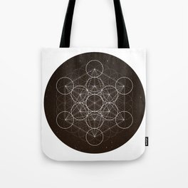 Metatrons Cube Is Out Of Space Tote Bag