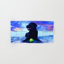 Ziggy Black Labrador Hand & Bath Towel
