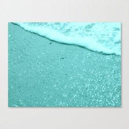 Sparkling Aqua Beach Canvas Print