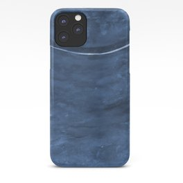 Cohesion Watercolor Print in Navy Blue iPhone Case