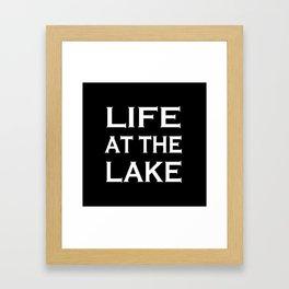 Life at the lake - black and white Framed Art Print