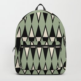 Mid Century Modern Diamond Pattern Sage Green 234 Backpack