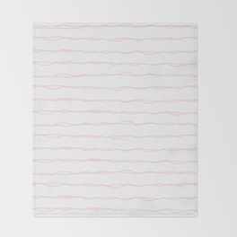 Simply Wavy Lines in Desert Rose Pink Throw Blanket