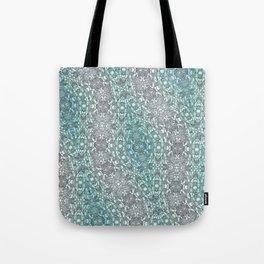 Teal Washout Tote Bag