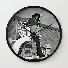 LARA LAY - Industrial Fashioned Girl Wall Clock