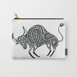 Ornate Bull Carry-All Pouch