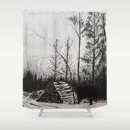 Winter Woodlot Shower Curtain