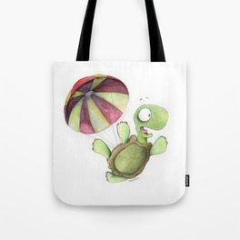 Falling Tortoise Tote Bag