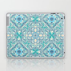 Gypsy Floral in Teal & Blue Laptop & iPad Skin