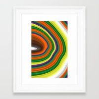 tree rings Framed Art Prints featuring Tree Rings by K I R A   S E I L E R
