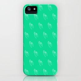 F ((emerald)) iPhone Case