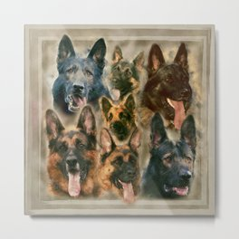 German Shepherd dog - GSD collage Metal Print