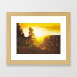 Dancing Sunset Framed Art Print