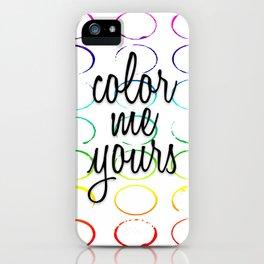 Color Pattern iPhone Case