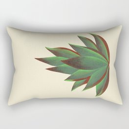 Red and Green Aloe Vera Plant Rectangular Pillow