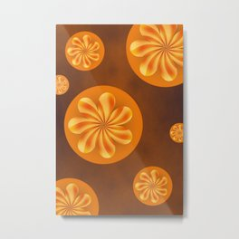 Retro Blossoms Metal Print