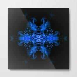 Blue Fire Dragons Metal Print