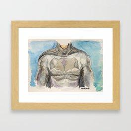 The Bat Man - Fictional Superhero Framed Art Print