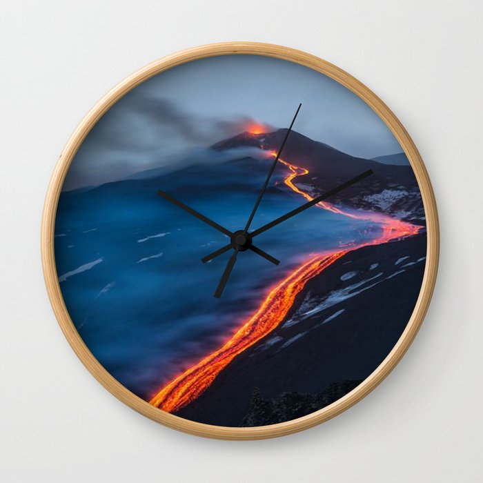 WHEN THE BEACH TURNS RED Wall Clock